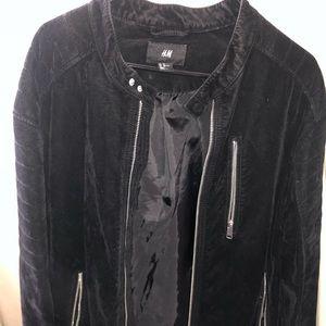 H&M Faux Suede Jacket Black.